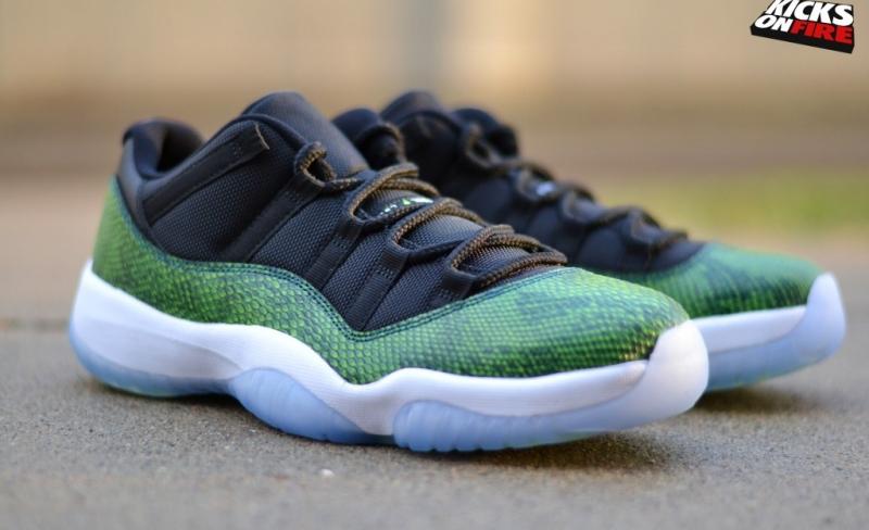 ShoeFax - Air Jordan 11 Low Green Snakeskin