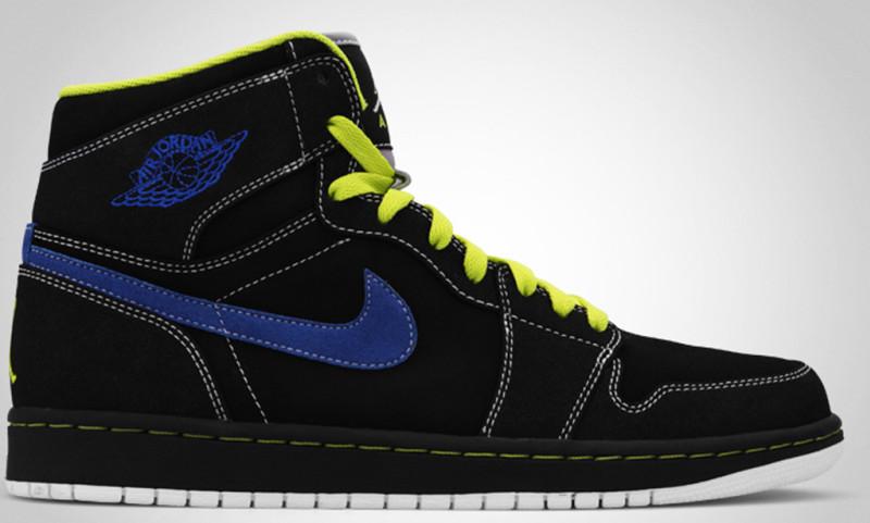 huge discount de480 43131 Air Jordan 1 High Black Cyber Blue Sapphire