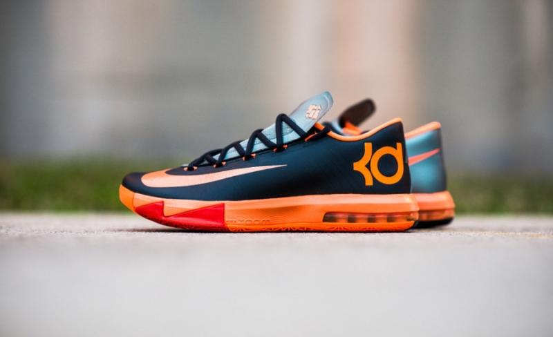 0b839613fa3a ShoeFax - Nike KD 6 Anthracite   Total Orange