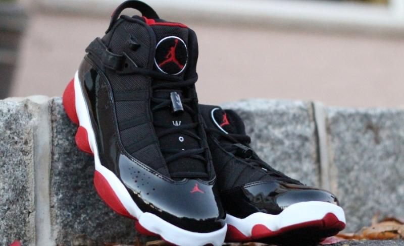 info for 33d0a 299e1 ShoeFax - Air Jordan 6 Rings Black / Varsity Red - White