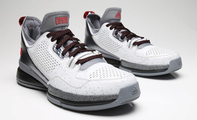 online store 7d2f4 c3b2d adidas D Lillard 1 Rip City White