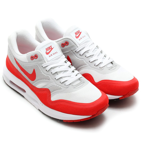the latest e396f d695d Nike Air Max Lunar 1 White Challenge Red