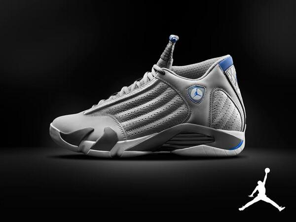 Air Jordan 14 Wolf Grey / Sport Blue