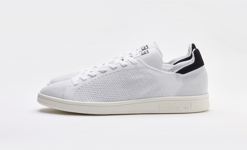 half off e8d5d 37bea ShoeFax - Adidas Stan Smith Primeknit White Blue