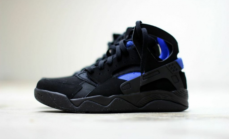 be54184d2781 ShoeFax - Nike Air Flight Huarache Black   Lyon Blue