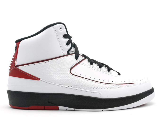 Air Jordan 2 White Varsity Red Black 2010