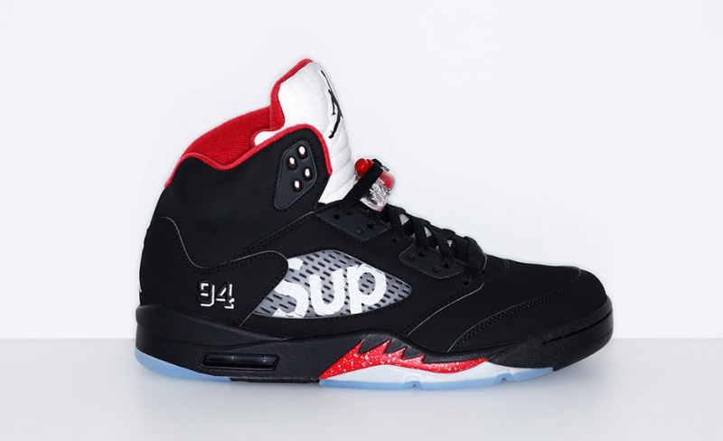Supreme x Air Jordan 5 Black