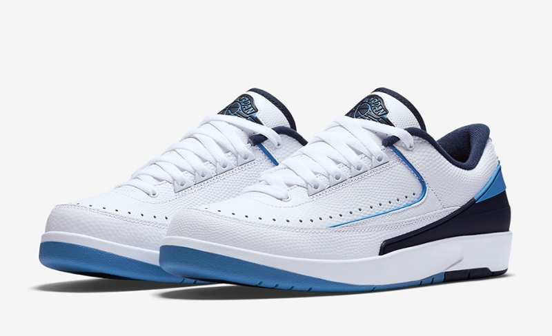 Air Jordan 2 Low White Midnight Navy